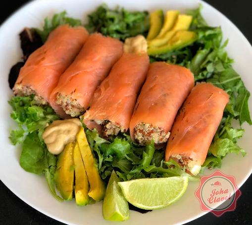 salmón con aguacate