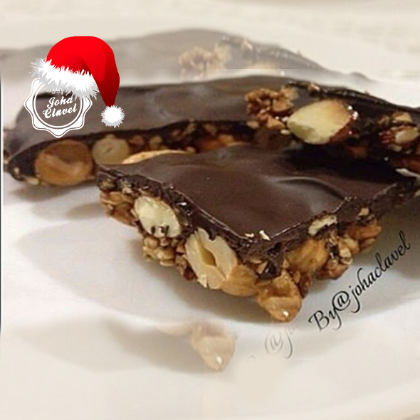 turron con chocolate