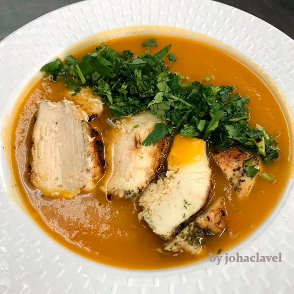 sopa de vegetales con pollo