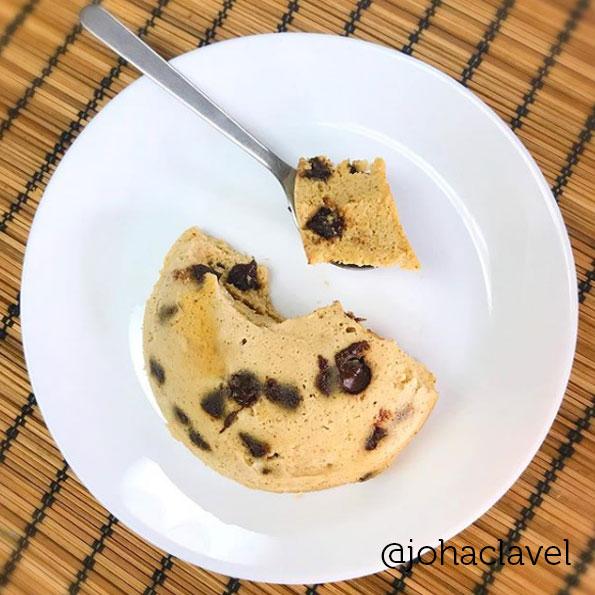 Mugcake con harina de coco