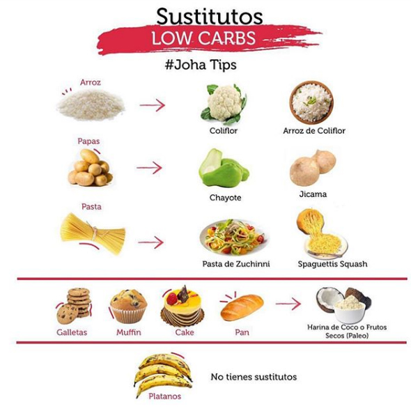 sustitutos low carbs